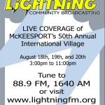 Lightning Community Broadcasting Poster